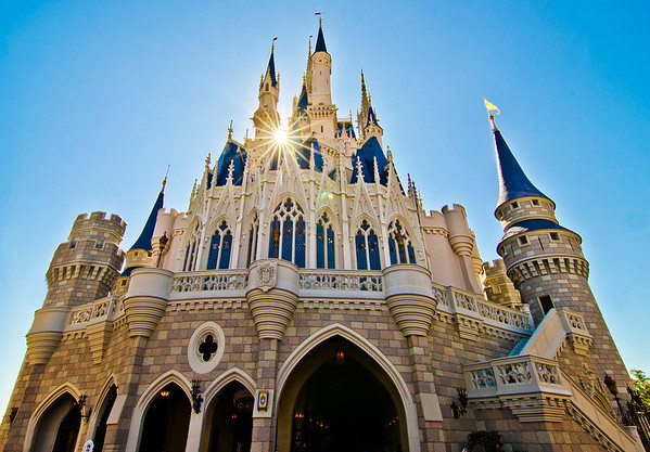 "Just below that sunburst is the Cinderella Castle Suite! <br /> <br /> Our Cinderella Castle Suite photo tour:  <a href=""http://www.disneytouristblog.com/cinderella-castle-suite-tour-photos/"">http://www.disneytouristblog.com/cinderella-castle-suite-tour-photos/</a>"