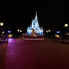 <b>Walt Disney World Resort Magic Kingdom Cinderella Castle Icicle Dream Lights</b>  Long after the Magic Kingdom has closed, no one is stirring in the Magic Kingdom, except for a statue of a man and his mouse! ;)  More information, tips, and planning information for Christmas at Walt Disney World: http://www.disneytouristblog.com/disney-world-christmas-ultimate-guide/