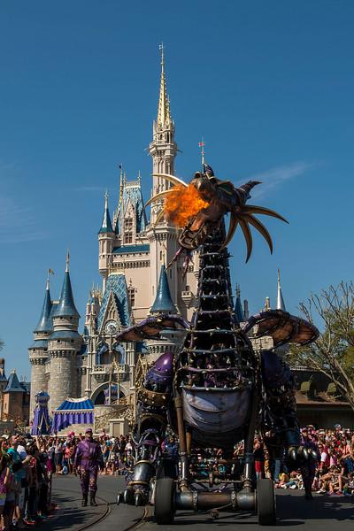 "Disney Festival of Fantasy Parade: Maleficent from ""Sleeping Beauty"""