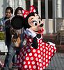 Minnie out having fun.