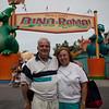 Grandpa and Grandma at Dino-Rama.