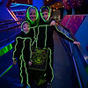 Here we are in our costumes getting ready to ride Space Mountain.