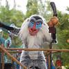 Rafiki at the Jammin' Jungle Parade.