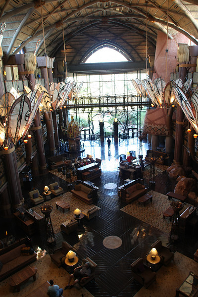 The lobby of Disney's Animal Kingdom Lodge