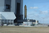 SRBs and external tank on the Crawler, headed into the VAB.