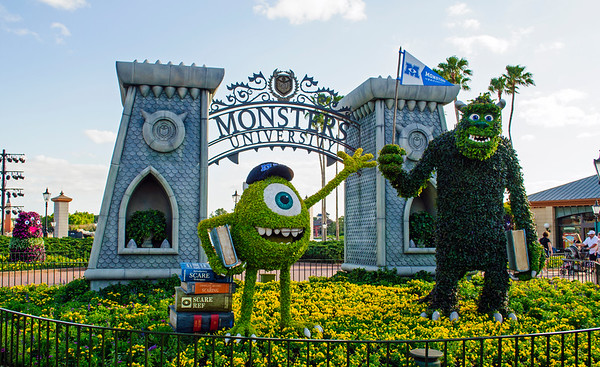 Mike & Sully with Monsters University at the 2013 Epcot Flower & Garden Festival.