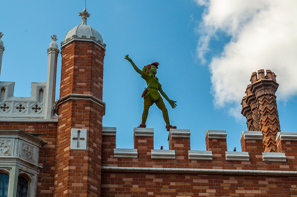 Peter Pan at the UK Pavillion.