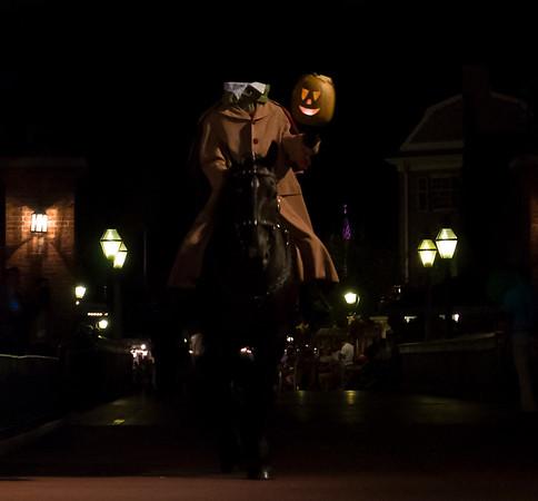 Headless Horseman at Mickey's Not So Scary Halloween Party