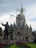 Walt Disney & Mickey Statue in front of Cinderella Castle