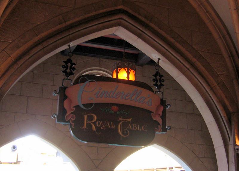Sign at Cinderella's Royal Table