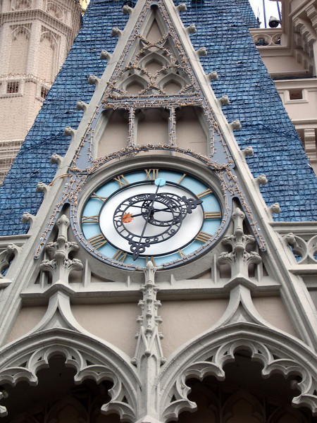 Clock on Cinderella Castle