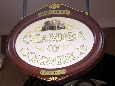 Sign at Chamber of Commerce at Magic Kingdom