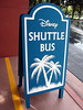 Sign at bus stop at the Dolphin Resort