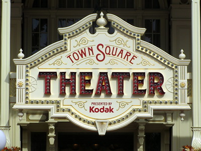 Sign for Town Square Theater