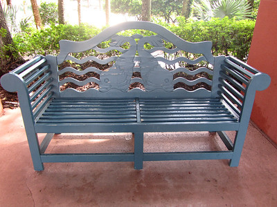 Bench at Bus stop at the Dolphin Resort