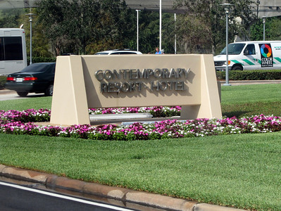 Sign at entrance to the Contemporary Resort