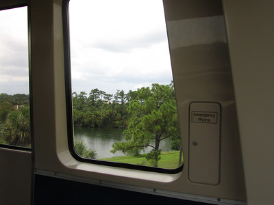View from Monorail at Orlando Airport