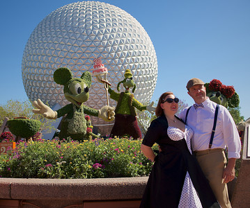 Mickey, Goofy and Minnie, International Flower & Garden Festival.