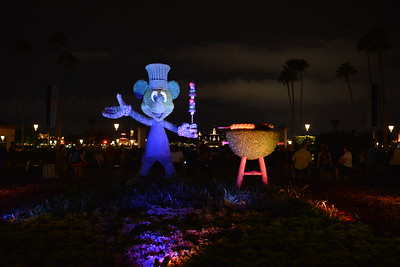 Mickey Mouse on Food & Wine Festival Evening