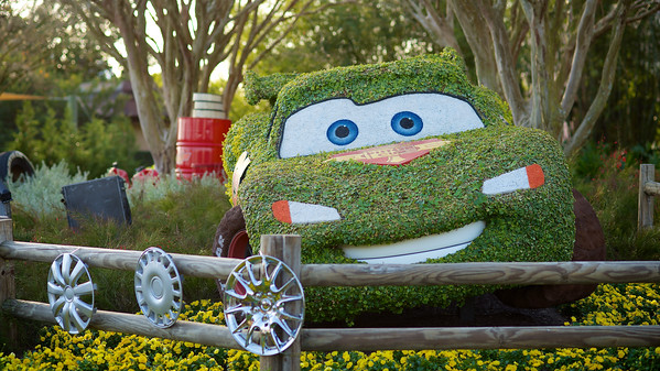 Lightning McQueen, International Flower & Garden Festival.