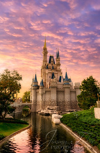 Cinderella's Castle at Sunset Portrait