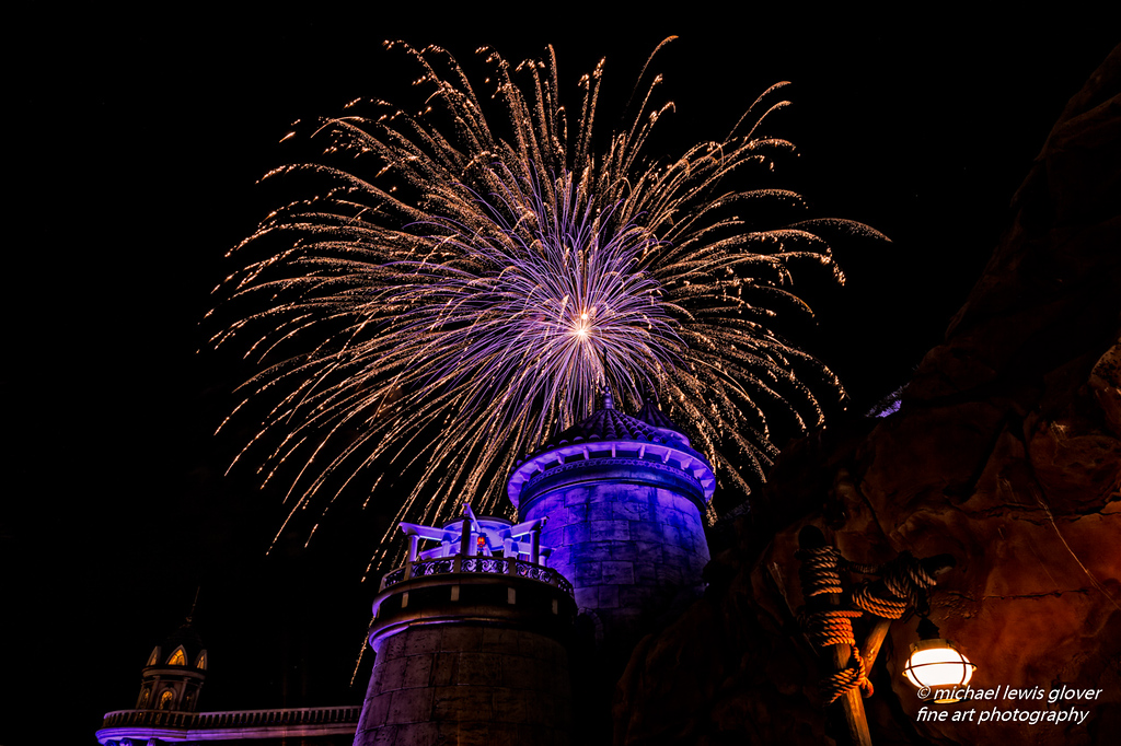 Fireworks Over Prince Eric's Castle