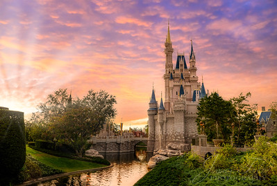 Cinderella's Castle at Sunset Landscape