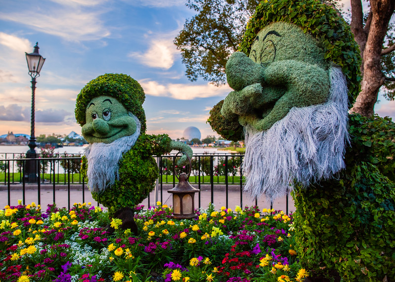 Dwarf Topiaries at the Epcot Flower and Garden Festival