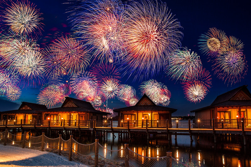 4th of July Fireworks at Disney's Polynesian Resort