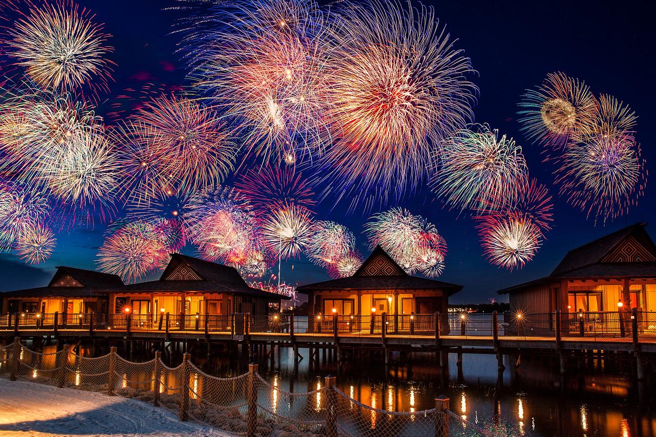 4th of July Fireworks at Disney's Polynesian Resort