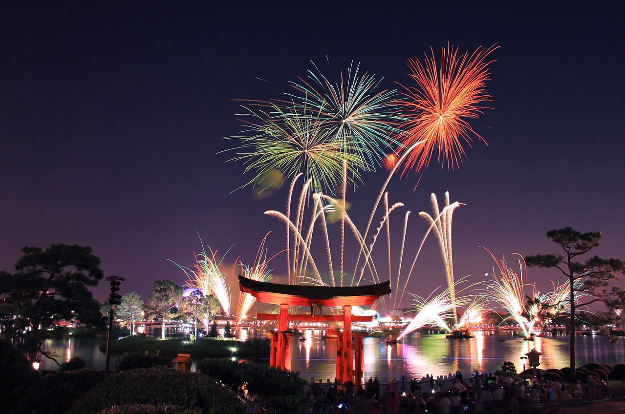Fireworks From Japan at Epcot Center