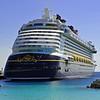 The Disney Dream docked at Castaway Cay