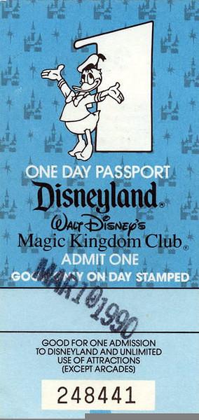 Disneyland 1990 Sept