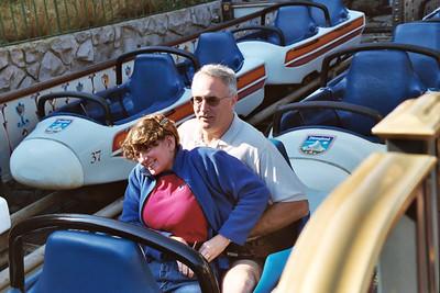 Linda and Paul on Matterhorn bobsleds