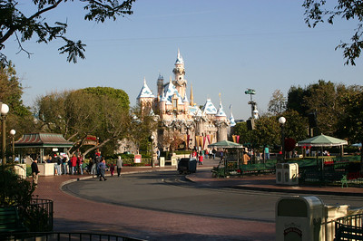 Sleeping Beauty Castle at the end of Main Street.