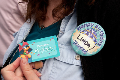 It's Linda's birthday, so she gets a free entry and special treatment!
