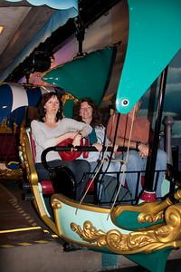 ShoRob, Linda, Paul on Peter Pan ride.