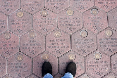 More random personalized pavers in the plaza between the parks.