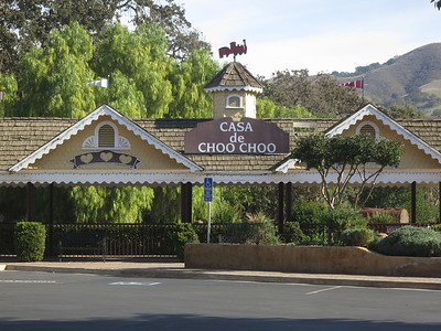Casa de Choo Choo train station and sign