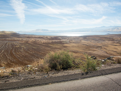 San Luis Reservoir, water should be up to here