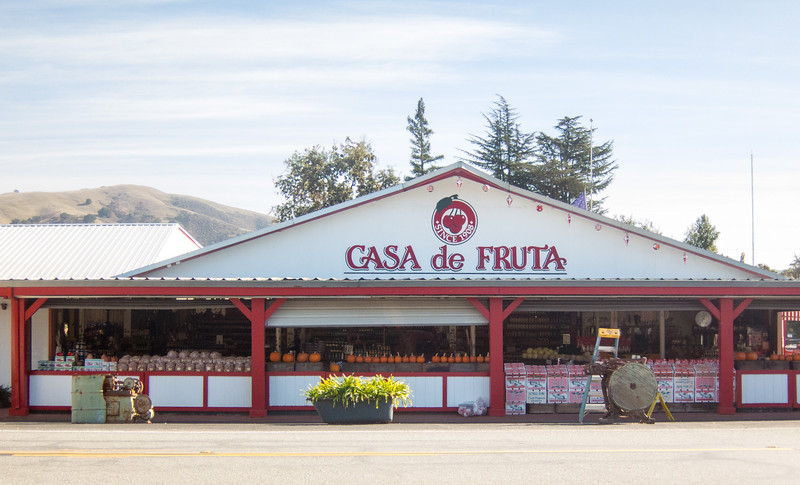 First View of Casa De Fruta so-called produce stand