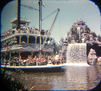 1959 Viewmaster of the Mark Twain passing the waterfall.