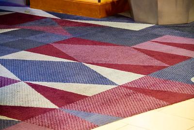 Lobby carpet, color correct by manually setting white balance