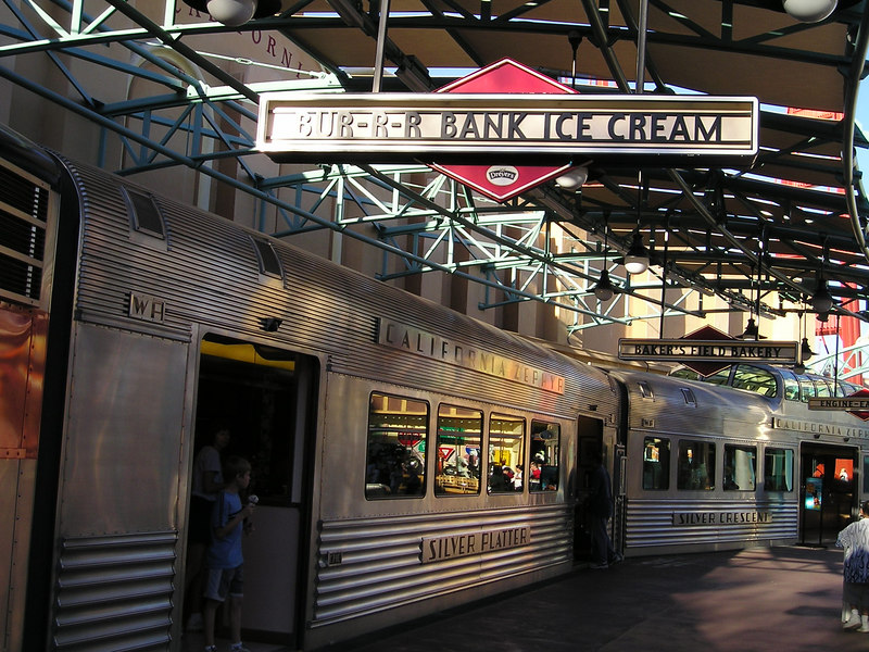 Ice Cream Train in California Adventure (Bur-r-r bank ice cream)