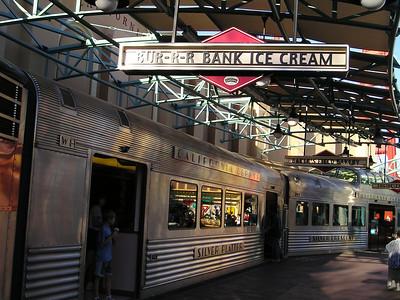 Ice Cream Train in California Adventure (Bur-r-r bank ice cream)