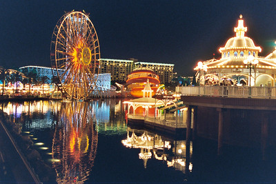 Paradise Pier after dark