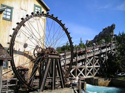 Water wheel in White Water rafting behind Grizzly Peak