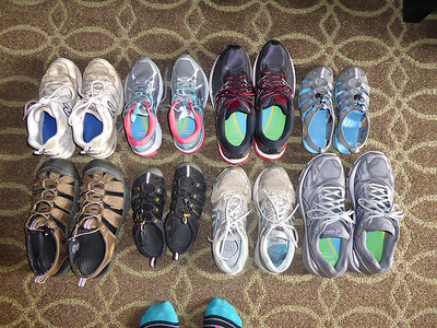 Shoes for three people