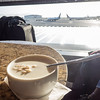 Oatmeal with a view at United Premiere Club.