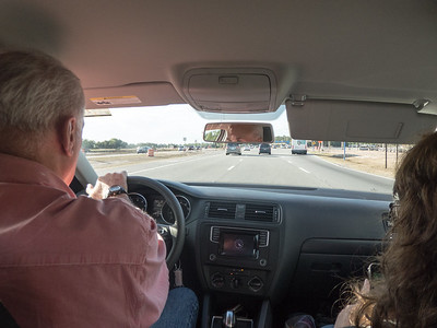 Paul and Linda in the front seat as usual